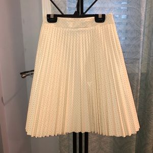 Bar III Skirt white pleated faux leather